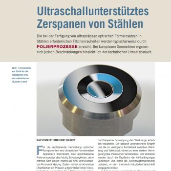 Artikel: Ultraschallunterstütztes Zerspanen von Stählen