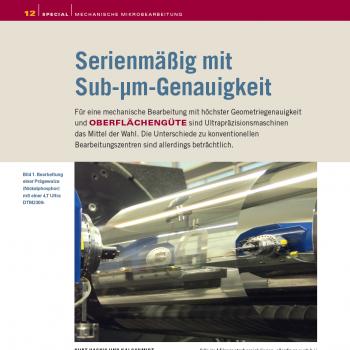Artikel: Serienmäßig mit Sub-µm-Genauigkeit
