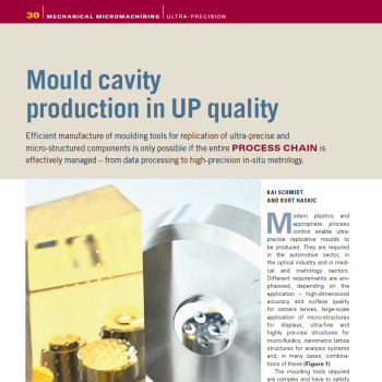 Artikel: Mould cavity production in UP quality
